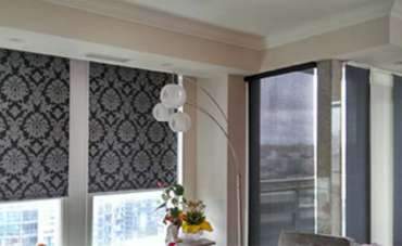Roller shades featured on Houzz